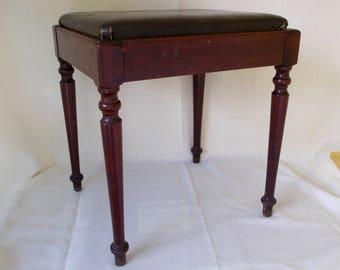 Vintage Singer Sewing Machine Bench, Storage Bench