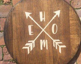 Home w/arrows Kentucky Barrel Head
