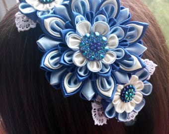 Kanzashi headband/Fabric flower hairband/Flower head band/Head bands for girls/Kanzashi flower
