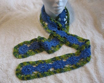 Cashmere Scarf Crocheted