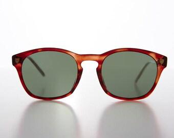Classic Retro Horn Rim Nerd Sunglasses Black or Tortoiseshell - Bryce