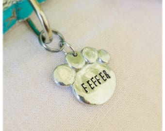 Custom Pawprint Small to Large Dog Tag