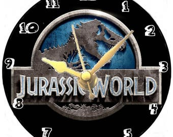Jurrassic world cd clock