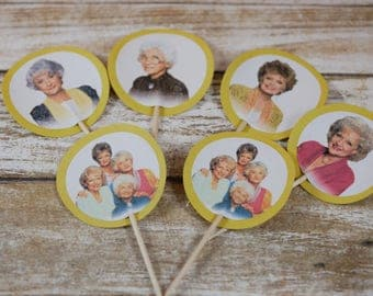 The Golden Girls Cupcake Toppers, The Golden Girls party, Golden girls cupcake picks, The Golden girls birthday