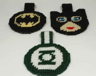 DC Character Luggage Tags