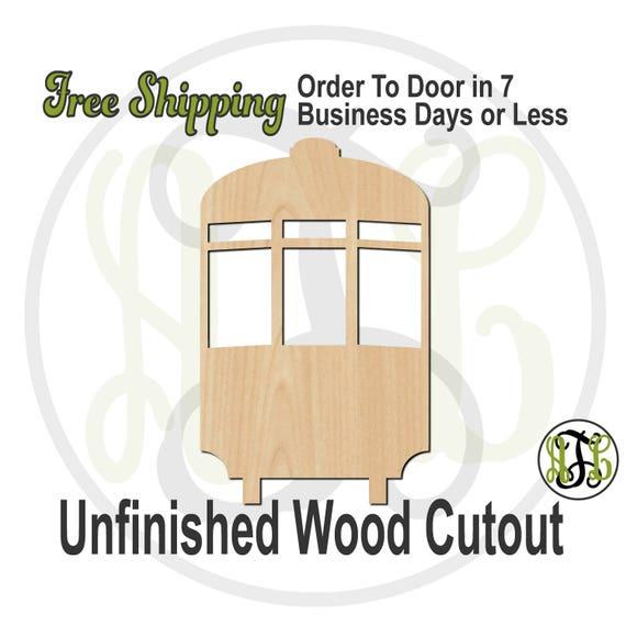 New Orleans Street Car -130009- Mardi Gras Cutout, unfinished, wood cutout, wood art, laser cut, wood cut out, Door Hanger, Carnival, wooden