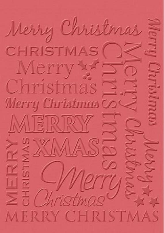 Craft Concepts Embossing Folder Merry Christmas