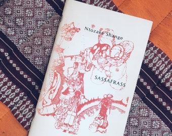 "Vintage Ntozake Shange ""Sassafrass"" First Edition Paperback Book"