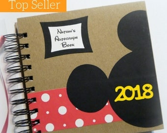 2018 80 pgs PERSONALIZED  Disney Autograph Book Scrapbook Travel Journal Vacation Photo Book 245