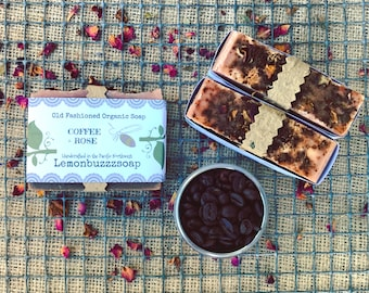 Coffee+Rose Organic Soap+Seed Paper+Natural Coffee Soap+Rose Soap+Coffee Soap+Ecofriendly+Healthy+Soap+Gift For Her+Gift For Him+Unique Gift
