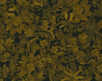 DELHI golden brown/green floral cotton fabric by the yard, fq+. RJR Fabrics, quilting fabric, 100% cotton fabric, Jinny Beyer fabric!