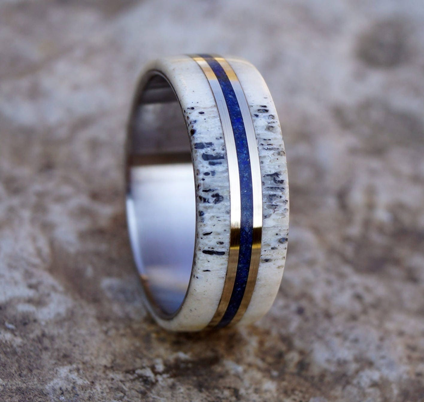 wedding rings bands of wildlife deer mens luxury antler