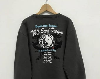 20% OFF Vintage T and C Surf Designs Hawaii Sweatshirt/Town and Country Clothing/T and C Surfboards