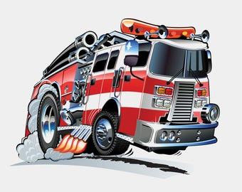 Fire Engine - Bodysuit or T-Shirt
