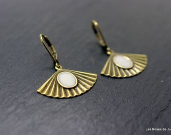 Earrings fan earrings