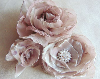trio of chiffon flowers