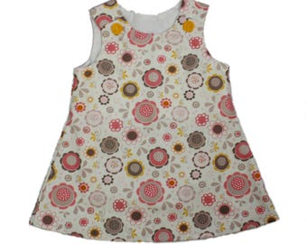 Girl dress Birthday girl dress baby dress A line dress jumper dress Aline girl dress Girl Aline flower dress Girl Dress fall dress