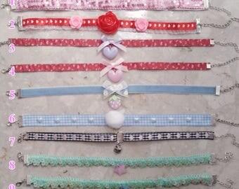 Colorful chokers harajuku kawaii fairy kei