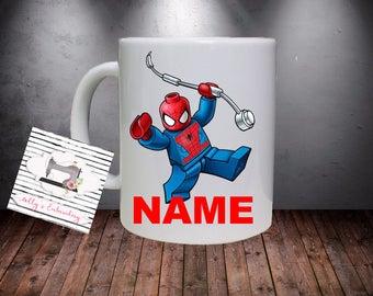 Personalised Spider boy Inspired Kids Mug.