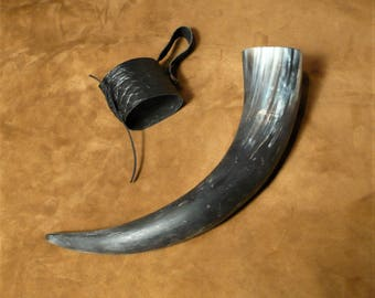 Drinking horn, Viking style beer cup, with holster