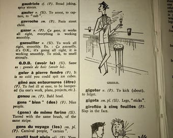 Vintage french dictionary  of colloquiAlisms pages