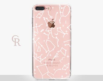 Constellations iPhone 7 Clear Case - Clear Case - For iPhone 8 - iPhone X - iPhone 7 Plus - iPhone 6 - iPhone 6S - iPhone SE Transparent
