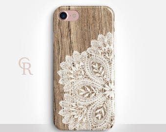 Lace iPhone 7 Case For iPhone 8 iPhone 8 Plus - iPhone X - iPhone 7 Plus - iPhone 6 - iPhone 6S - iPhone SE - Samsung S8 - iPhone 5