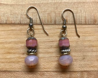Pink blush earrings