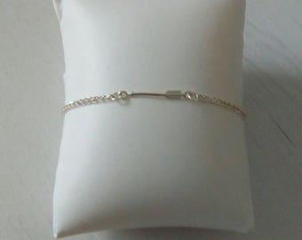 Bracelet flèche,argent 925 et plaqué argent //Cadeau pour elle