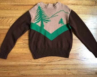 Vintage Sweater Mountains