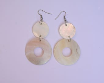 LARGE Pearl ECRU jewelry woman EARRINGS