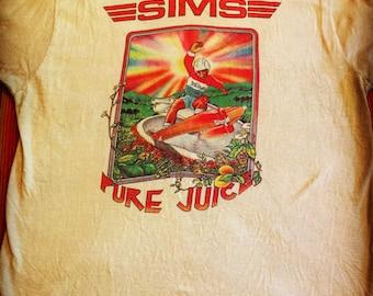 Vintage 1970's Sims Pure Juice Skate Shirt