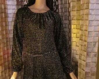 Glittery maxi-dress women's size 12 (m)