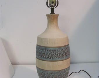 Vintage Mid Mod Ceramic Lamp With Color and Texture
