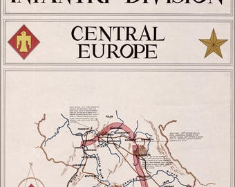 Poster, Many Sizes Available; Map Of 45Th Infantry Division Germany 1945