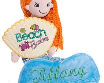 Cubbies Mermaid Rag Doll Personalized & Embroidered Monogrammed Gift