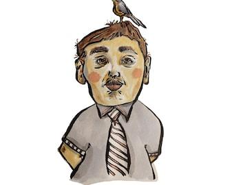 Bird on Head 1