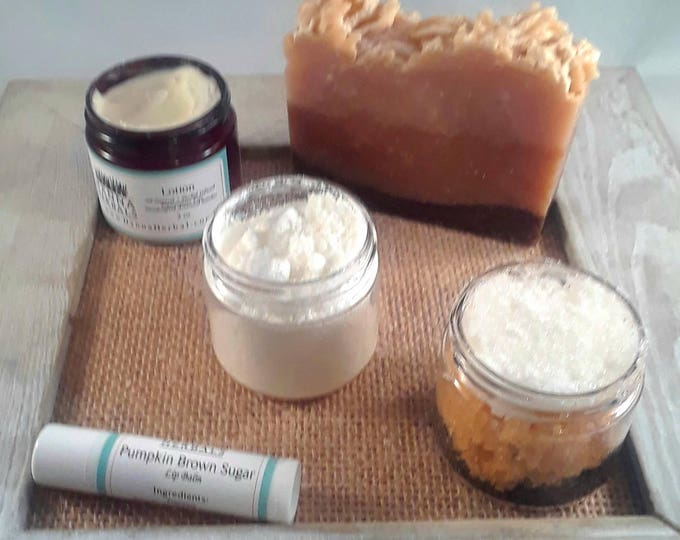Featured listing image: 3 Month Subscription Box - Pumpkin Spice - trial size - monthly box - samples - organic skincare set - Gift Idea