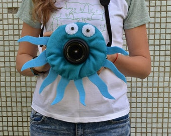octopus camera buddies, camera lens buddy, toys, photographer helper.Camera Accessories,photo helper,funny face buddy