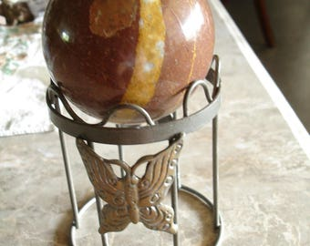 Large sphere stand,sphere holder,metal butterfly sphere stand