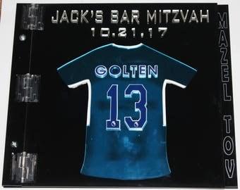 Custom Made Acrylic Sign-In-Book for Bar Mitzvah, Bat Mitzvah, Sweet Sixteen