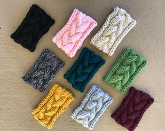 Knit Braided Cable Headband Bundle of 2
