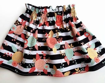 Floral Skirt- Piper Floral Skirt- Mint/Coral Skirts- Black/White Stripe Skirt- Gold Print Skirt- Coral Print Skirt- Mint Print Skirt