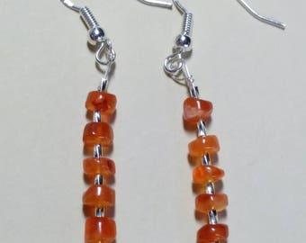 15 off Carnelian and Sterling Silver earrings