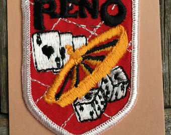 Reno Nevada Vintage Souvenir Travel Patch from Holm Patches and Caps