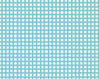 Quilting Treasures - Happy Cats - Loralie - 24422-B - Checks - Aqua - Blue