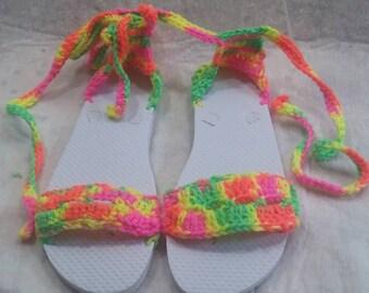 Crochet flip flops for women