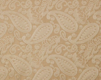 SCALAMANDRE ANGELIQUE PAISLEY Silk Damask Fabric 10 Yards Tan