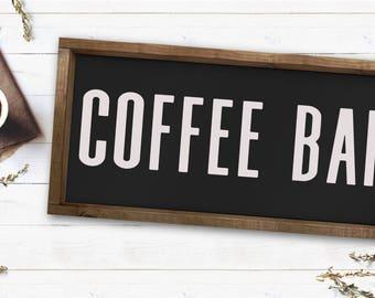 Coffee Bar|Wood Sign