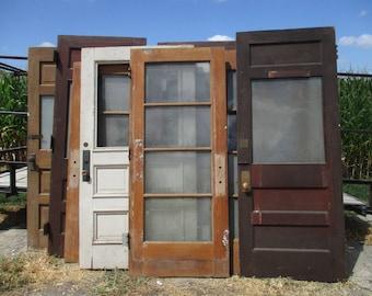 Lot Of 10 Vintage School Doors Architectural Salvage Trim Paned/Unpaned Panel b5